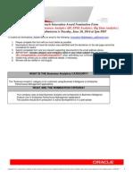 Oracle Innovation Award Nomination Form