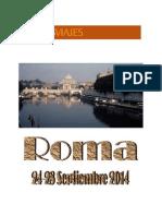 PROGRAMA DE VIAJE ROMA  2014