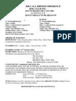 november 2014 schedule