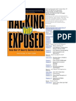 Hacking Exposed 2 - VoIP | Voice Over Ip | Online Safety