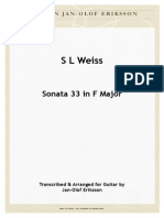 S L Weiss - Sonata 33 in F