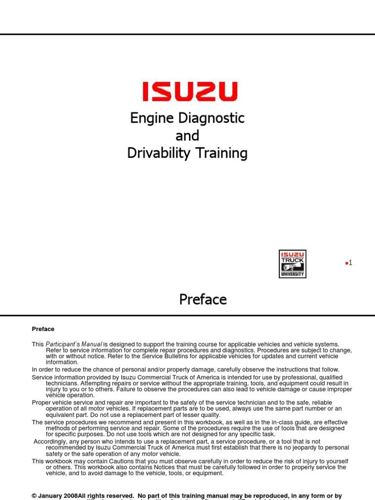 4Hk16HK1EngineDiagnosticandDrivabilityStudentpdf – Isuzu 4hk1 Engine Timing Diagram