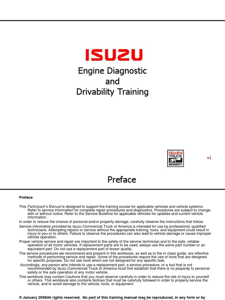 4Hk1-6HK1-Engine-Diagnostic-and-Drivability-Student.pdf | Fuel Injection |  Turbocharger