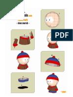 Paper Crafts - South Park - Stan