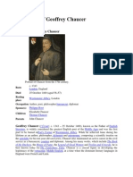 Biography of Geoffrey Chaucer