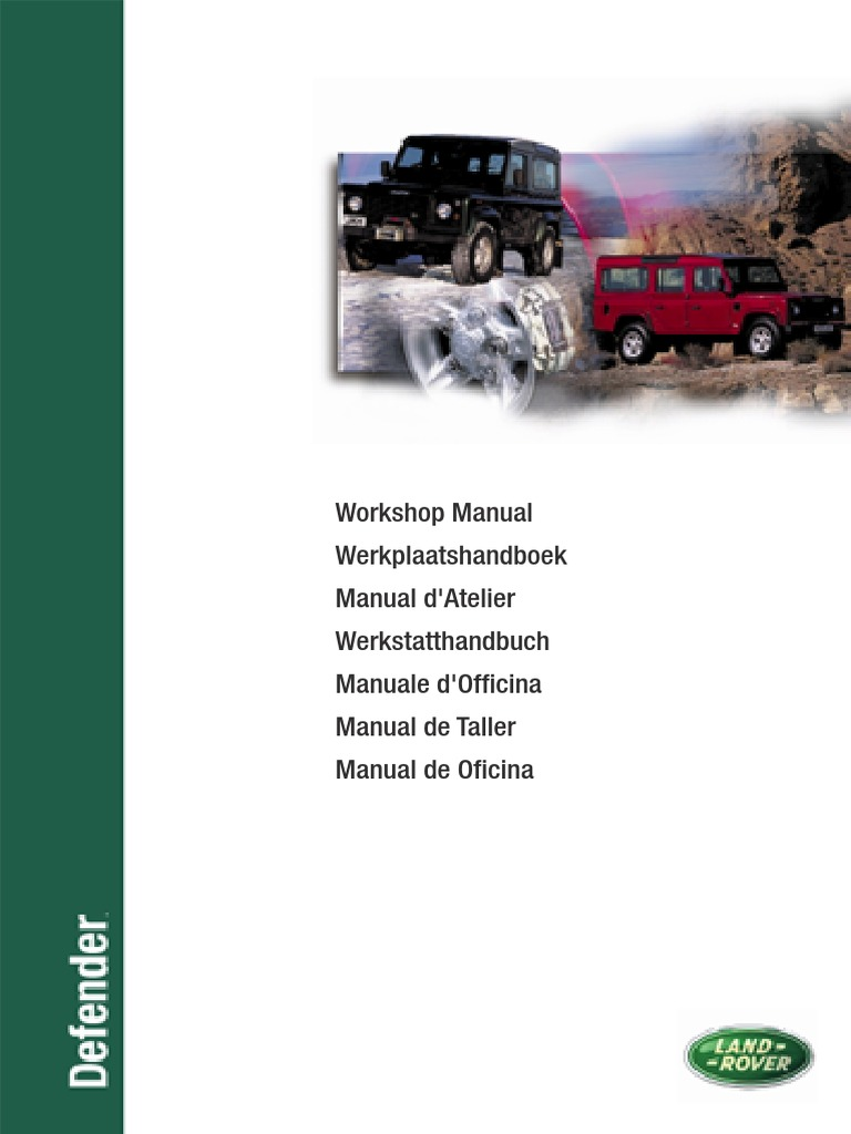 Land Rover Defender Workshop Manual 1999 and 2002 MY | Piston | Fuel  Injection