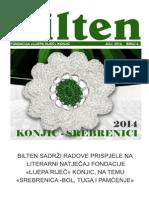 """Bilten fondacije """"Lijepa riječ"""" Konjic  posvećen Srebrenici"""