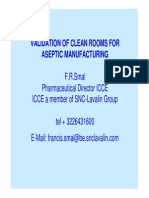 Validation of Clean Rooms for Aseptic Manufacturing