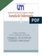 Unidad IV - Enfermeria Comunitaria - 2014