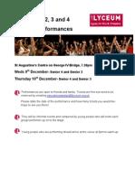 Seniors End of Term Performances Handout -Cabaret