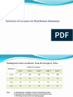 Selection of Location for Distribution Substation