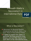 Neorealism in International Relations – Kenneth Waltz