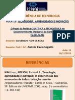 Tecnologia Aprendizado Inovação CAP 9 CLEVERSON 13 11 2013
