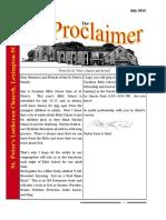 July 2014 Proclaimer