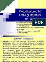 Metodica Predc483rii Limbii c59fi Literaturii Romc3a2ne Curs 1