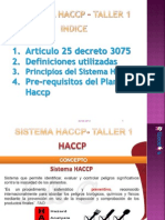Sistema Haccp Taller 1