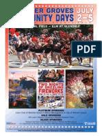 Webster Groves Community Days 2014 Program