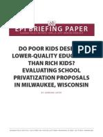 School Privatization Milwaukee