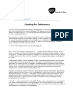 Evaluation Report - Coaching for Performance