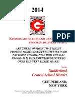 Guilderland schools building capacity study (2014)