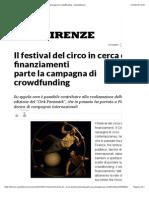 Il festival del circo in cerca di finanziamenti parte la campagna di crowdfunding