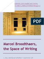 Marcel Broodthaers, The Space of Writing