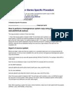 IBM DB2 UDB for ISeries Specific Procedure