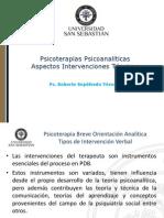 Intervenciones Tecnicas Psicoterapia Psicoanalitica