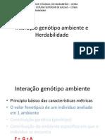 primeira aula herdabilidade e intera+º+úo genotipo ambiente