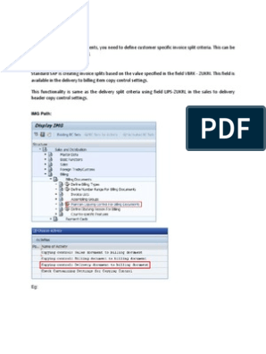 Invoice Split Logic in SAP   Invoice   Information Technology