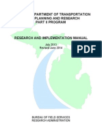 MDOT State Planning and Research Part II Program Research and Implementation Manual