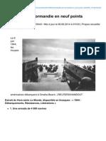 La Bataille de Normandie en Neuf Points