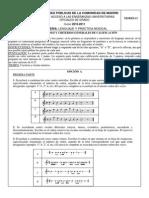 LENGUAJE Y PRÁCT. MUSICAL Modelo 2010-2011