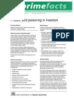 Prussic Acid Poisoning in Livestock