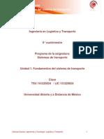 Unidad 1. Fundamentos Del Sistema de Transporte