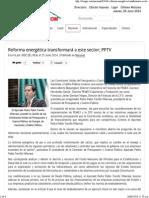 25-06-14 Reforma Energética Transformará a Este Sector; PPTV