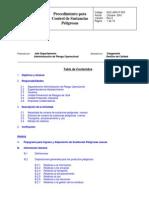 8ee 01 Proc DET Control de Sustancias Peligrosas