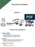 Tópico 3 - Cadeias de Caracteres