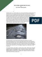Roads in India - Designed to Fail ?