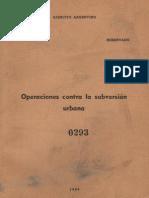 Operaciones Contra La Subversión Urbana