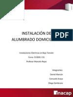 Informe Instalacion de Alumbrado Domiciliario 1