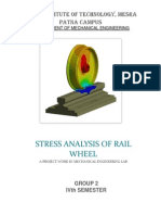 Stress Analysis of Rail Wheel