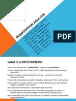 prescription analysis-group report