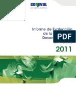 Informe de Evaluación de La Política de Desarrollo Social en México 2011