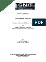 3d Printer Seminar-Report