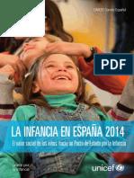 Unicef Informe La Infancia en Espana 2014