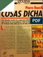 Bourdieu, P. 1987. Las Cosas Dichas. Barcelona, Editorial Gedisa