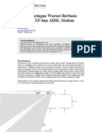 Instalasi Jaringan Warnet Basis Win XP & ADSL Modem