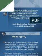 Criterios Del Codex Para Límites Máximos Permitidos en Medicamentos y Alimentos