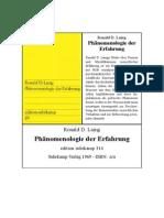 Ronald D. Laing - Phänomenologie Der Erfahrung